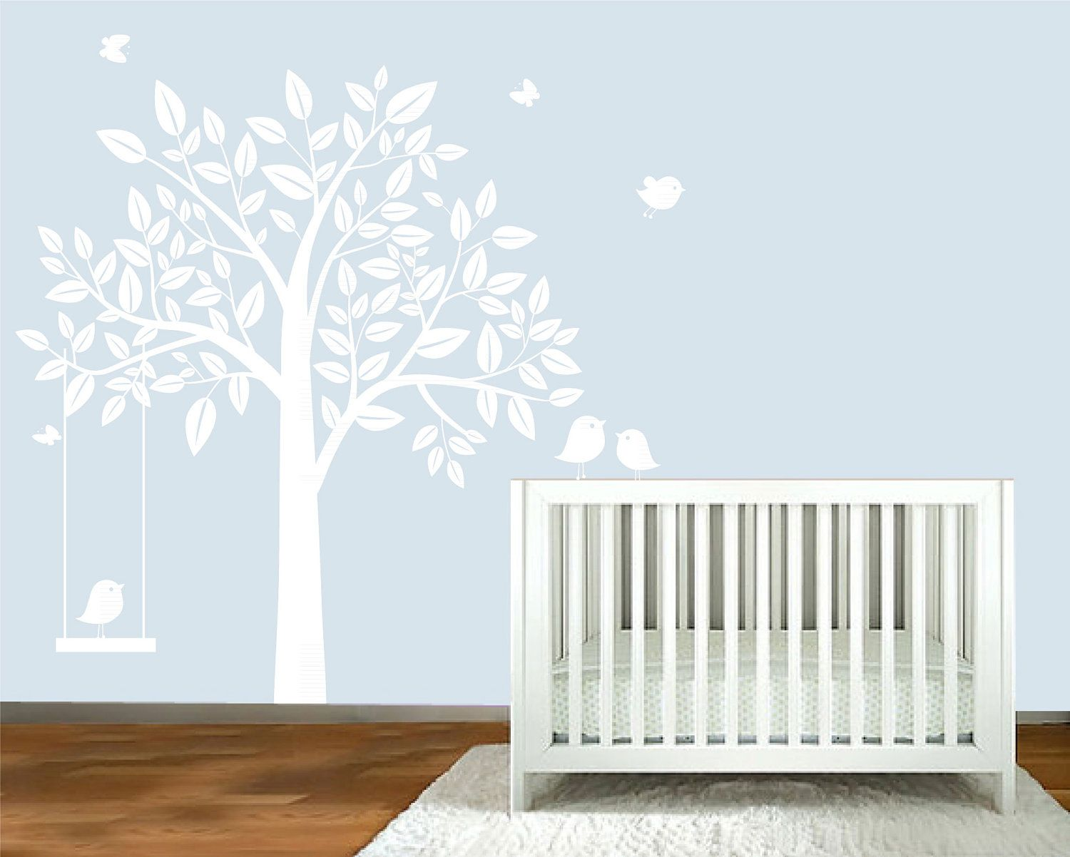 Tree wall decals large personalized family tree decal vinyl wall decal - Baby Boy Nursery Decor Nursery Tree Decal