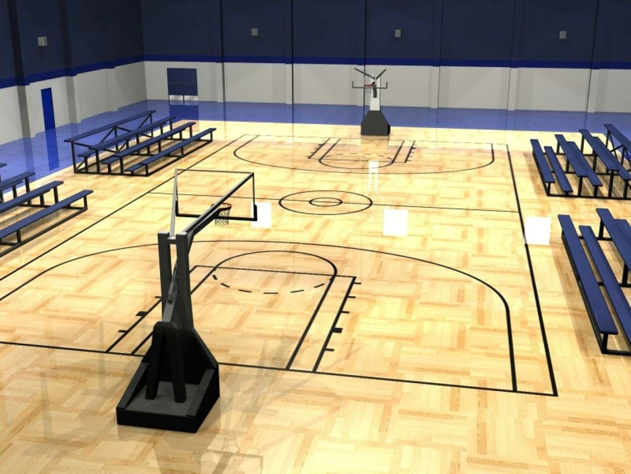 Indoor basketball court building tips for your home http for Custom indoor basketball court