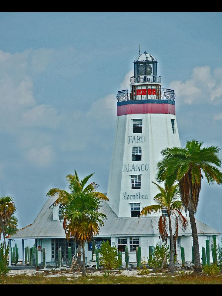 Faro Blanco Lighthouse in the Florida Keys