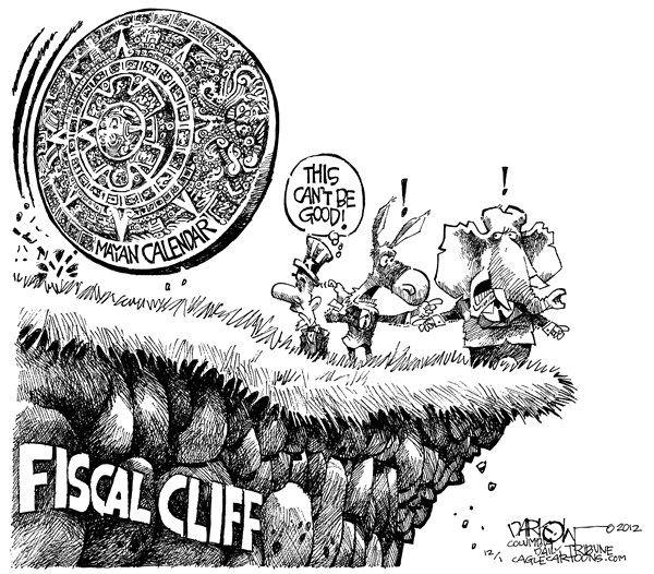 Fiscal Cliff Meets Mayan Calendar  Political PinUps