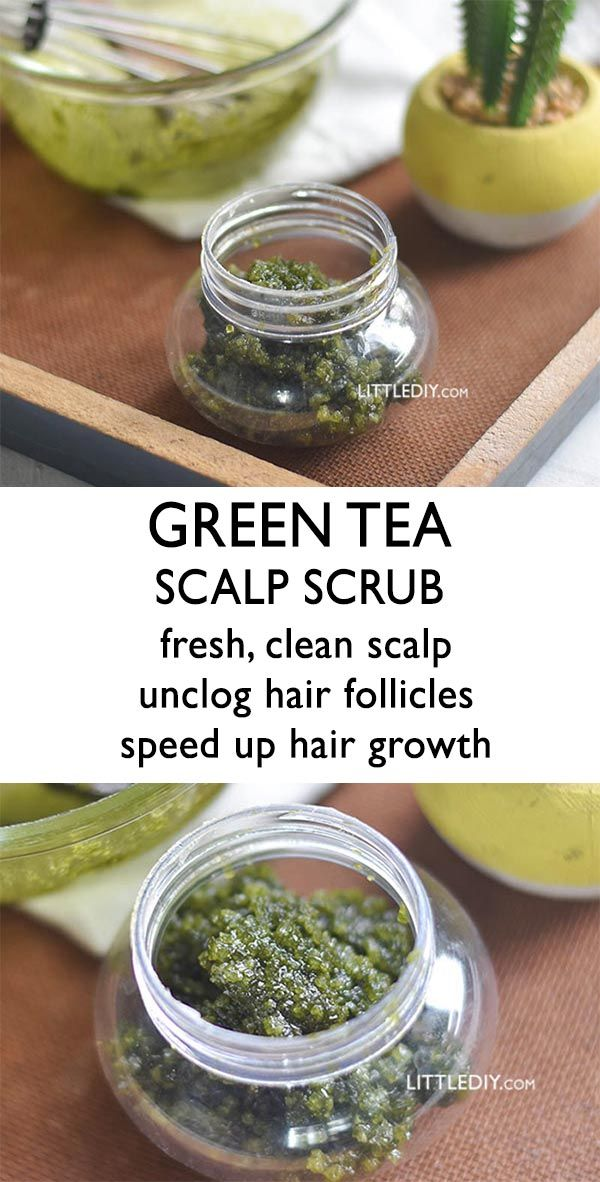 MATCHA GREEN TEA SCALP SCRUB – deep clean scalp -   16 skin care Organic sugar scrubs ideas