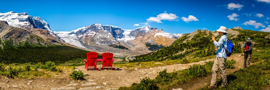 jasper national park the red chairs share the red chair