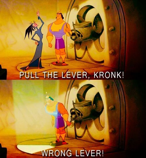 Why do we even have that lever!?!?!?