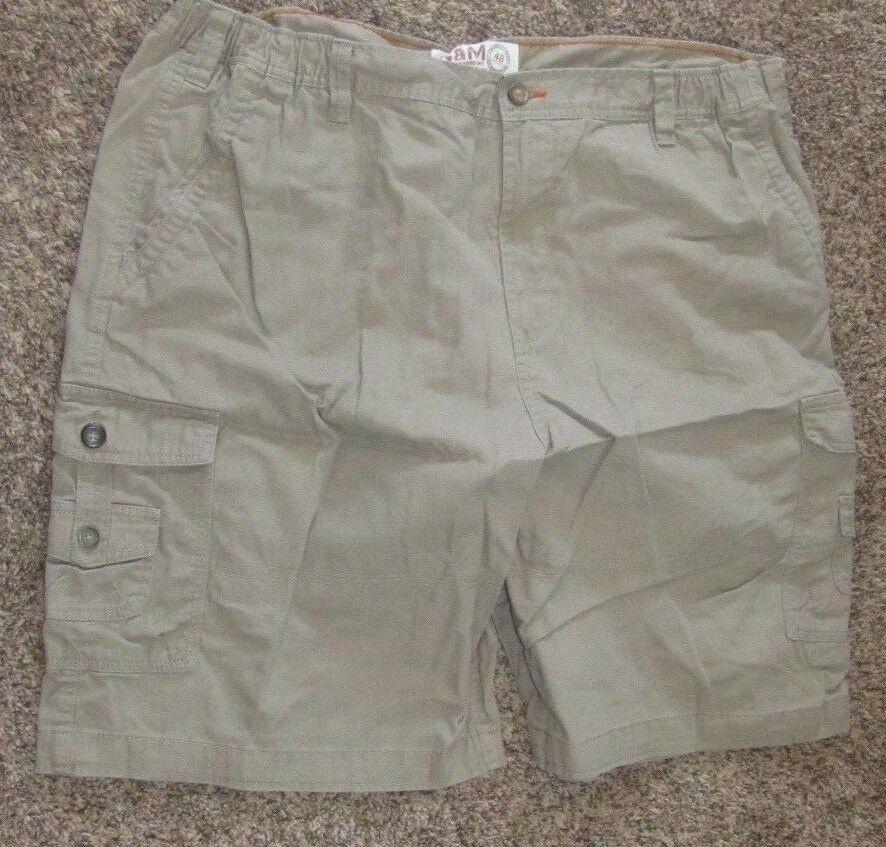 4d11a2ddd7 G & M George and Martha Men's Rugged Khaki Cargo Shorts 100% Cotton ...