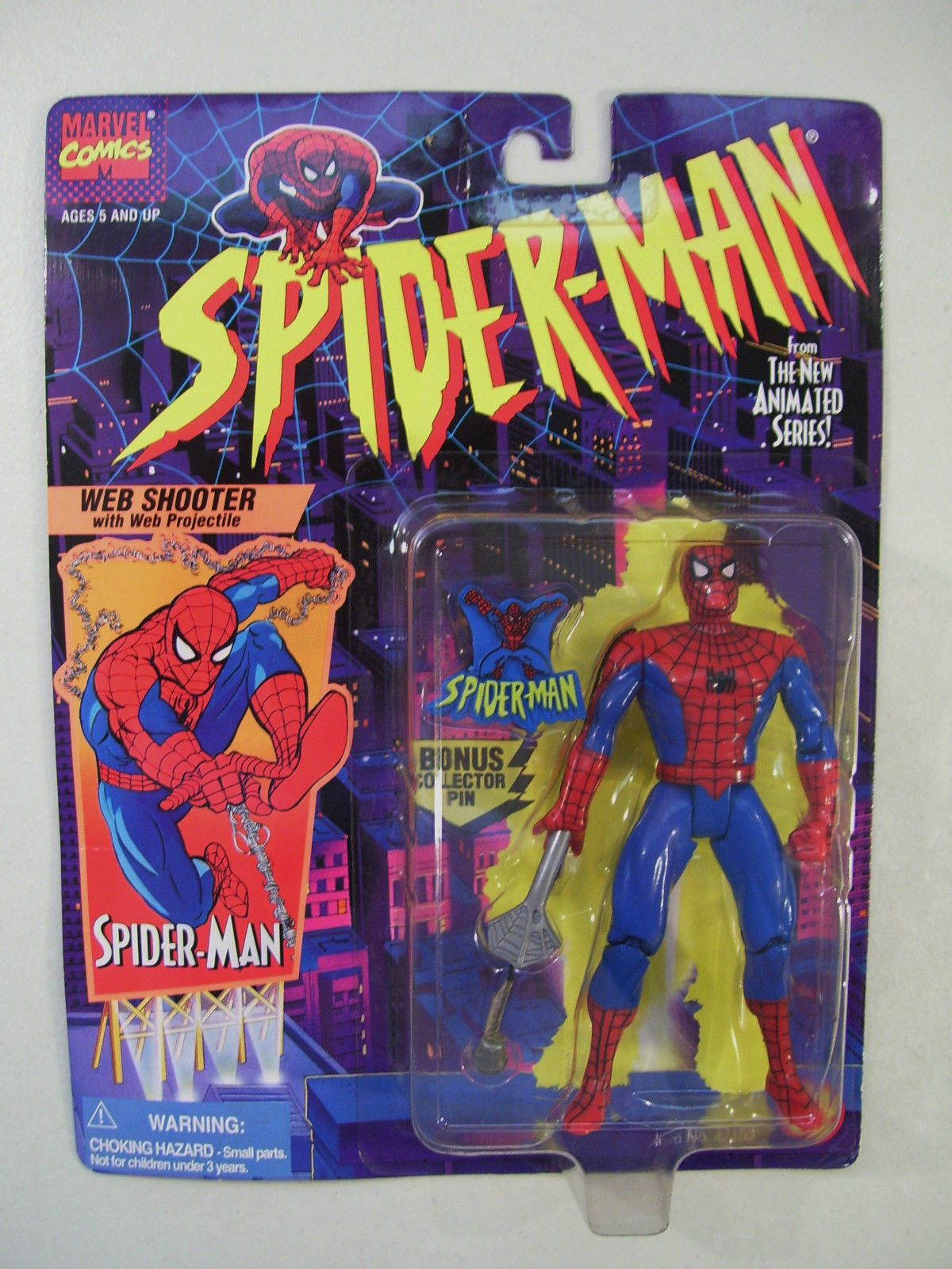 New marvel web shooter spiderman action figure toy biz ...
