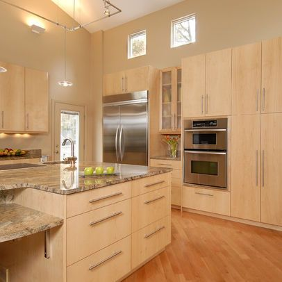 Maple Cognac Cabinets Design Ideas Pictures Remodel And Decor Birch Kitchen Cabinets Maple Kitchen Cabinets Maple Kitchen