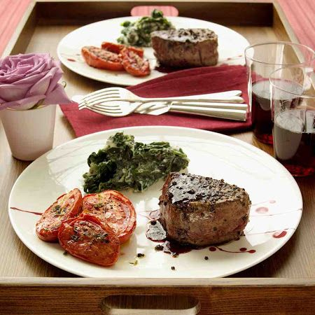 Pepper-Crusted Filet Mignon #dinner #quick #easy #supper
