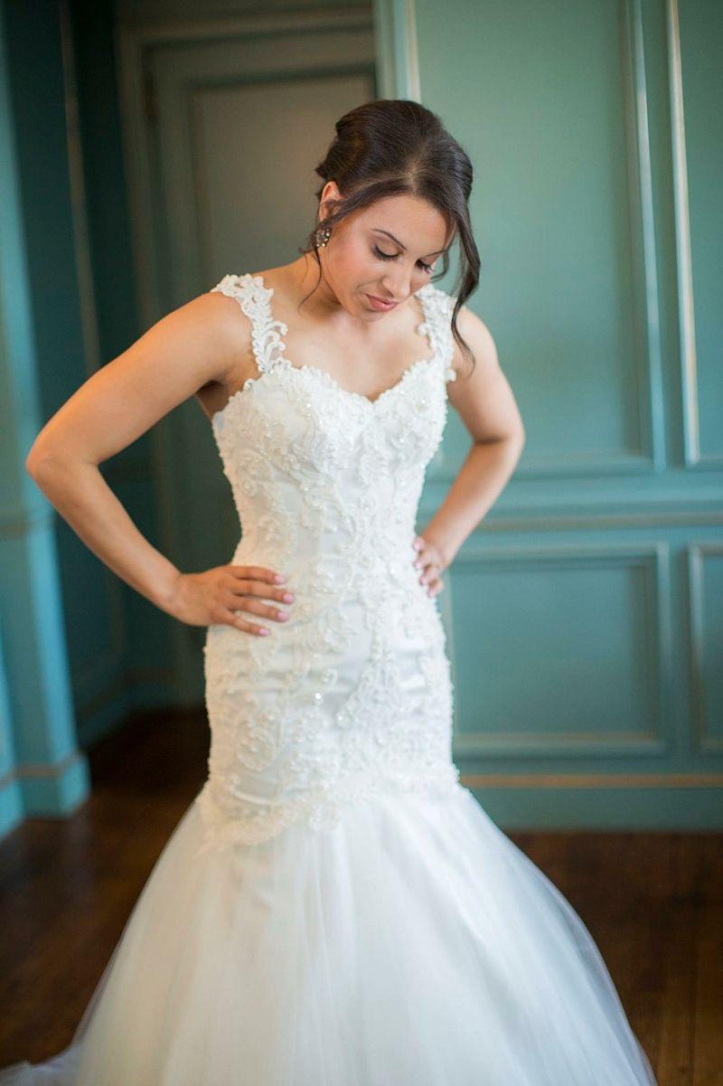 Real Brides Danielle B Moonlight Wedding Dress Wedding Dresses Mermaid Wedding Dress [ 1201 x 800 Pixel ]