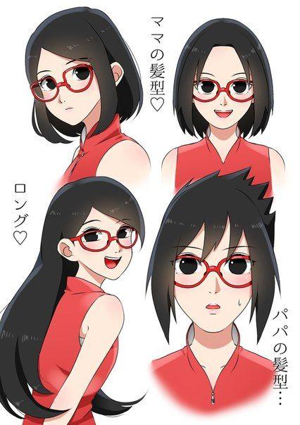 Sarada Uchiha Hairstyles Sarada Uchiha Naruto Uzumaki Anime Naruto