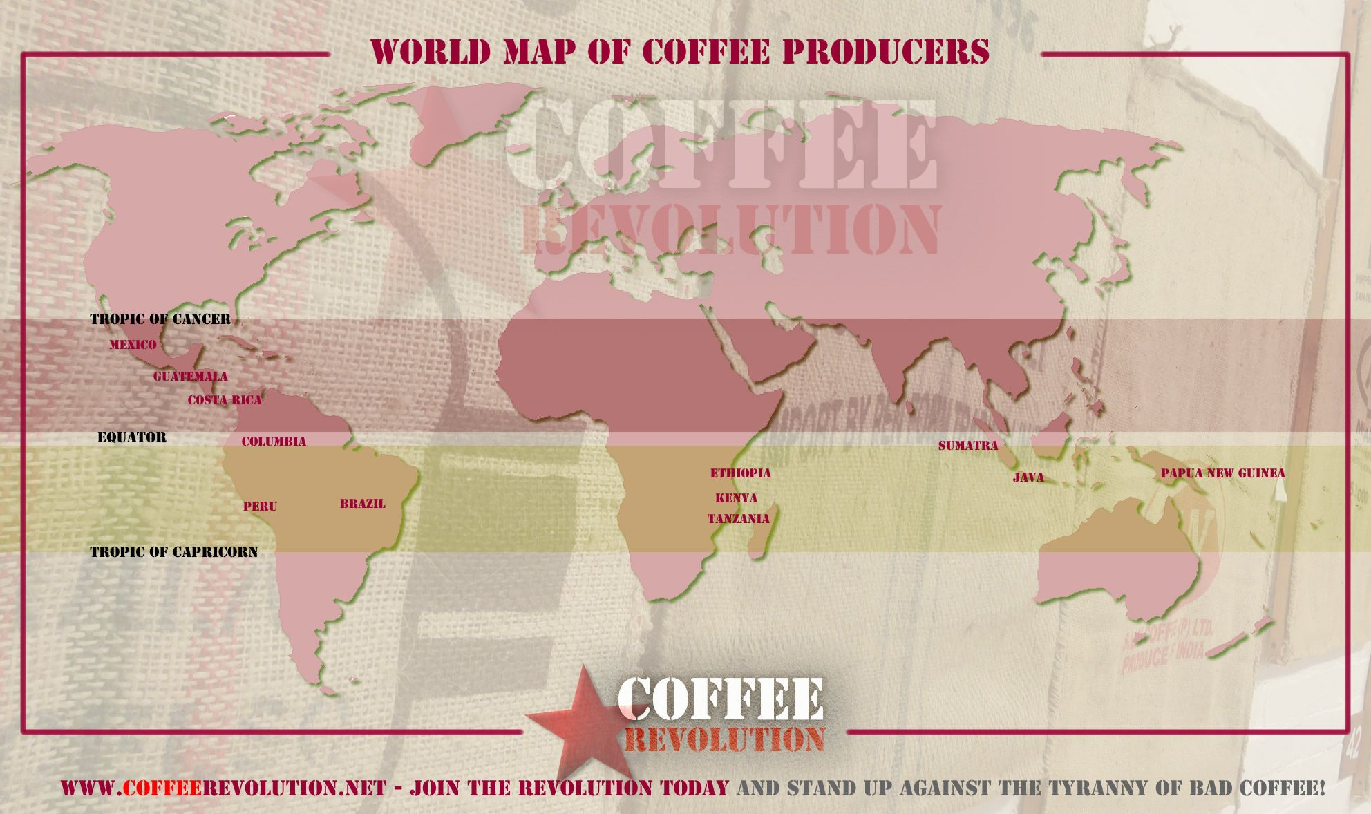 Most of the coffee in the world is grown in a very narrow region explore the world map of the coffee belt where youll see that the major coffee producers including guatemala costa rica columbia peru gumiabroncs Image collections