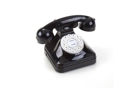 Telefone Retrô Preto