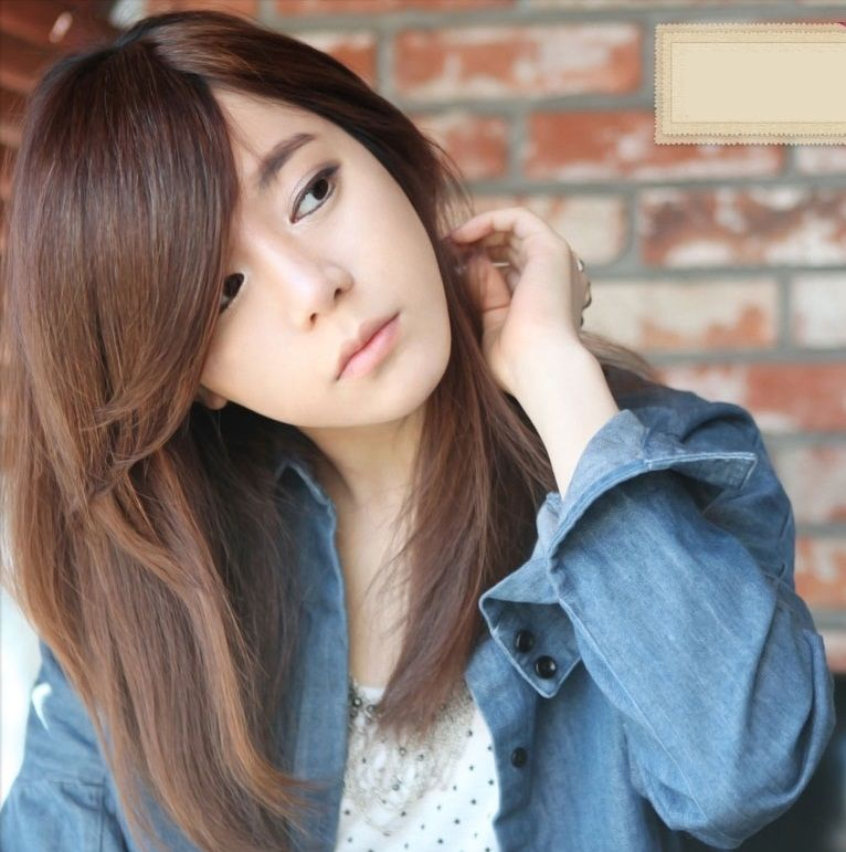 Haircuts For Long Hair With Layers And Side Bangs Korean