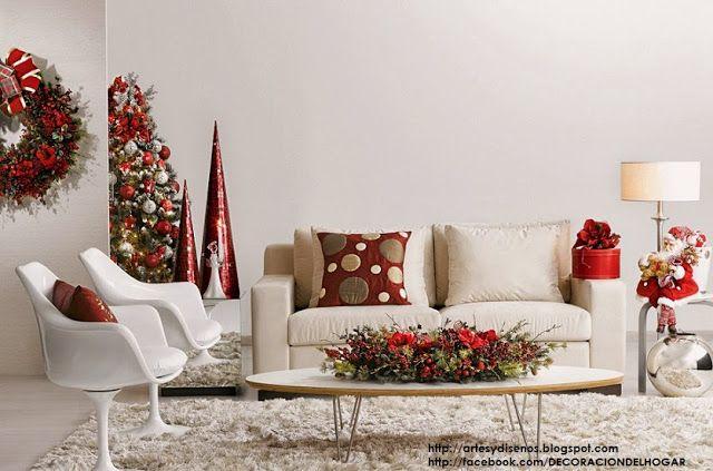 Como Decorar La Sala En Navidad Living Christmas Natal By Artesydisenos Blogspot Com Como Decorar La Sala Decorar Salas Ano Nuevo Decoracion