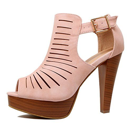 efd6fdd9634 Guilty Shoes – Womens Cutout Gladiator Ankle Strap Platform High ...