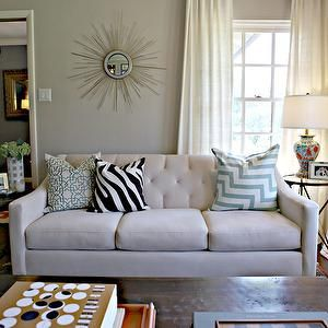 A More Modern Take On The Tufted Couch This In White
