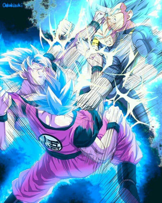 Goku And Vegeta Ssgss Fight Anime Dragon Ball Super Anime Dragon Ball Dragon Ball Artwork