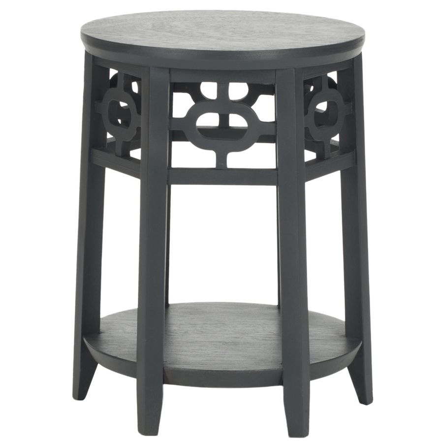 Safavieh Adela Charcoal Gray Wood Asian End Table Amh4624a In 2020