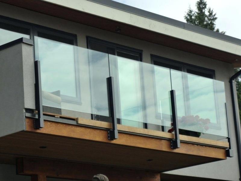 modern glass balcony railing deck systems canada | Balcony ...