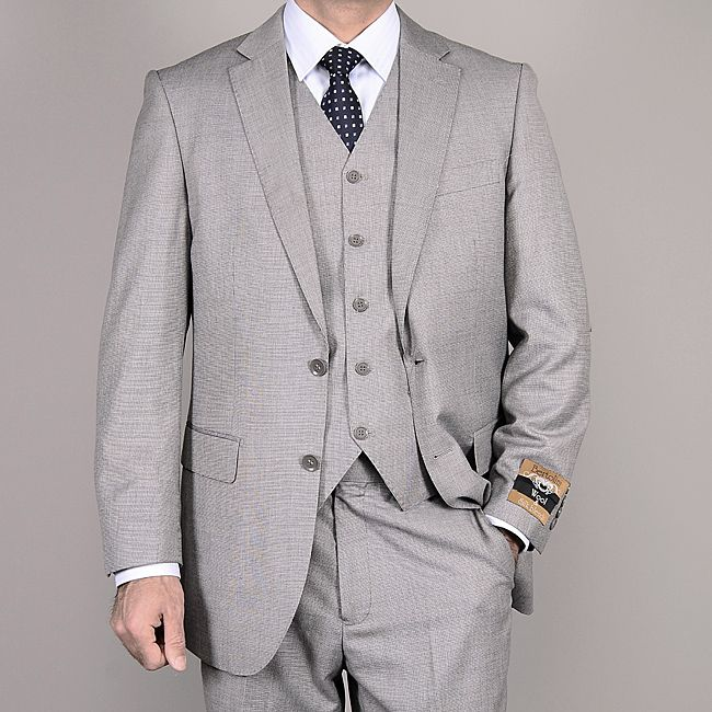 three piece light gray suit - Google Search | Groomsmen attire ...