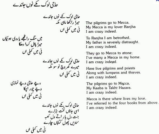 Bulleh Shah Punjabi Poetry-'Haji Loke Makkay Noo Janday