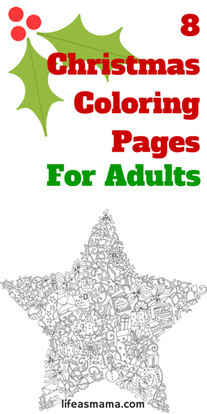 8 Christmas Coloring Pages For Adults | Colorear, Mandalas y Pintar