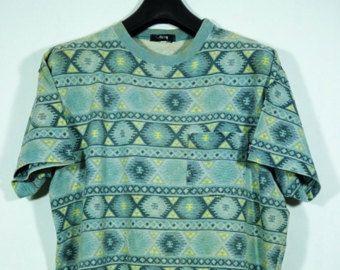 Vintage 90s Stussy Striped T Shirt Size Medium M skate skateboard / Vintage striped Shirt guess shirt guess striped guess t shirt z3Lx098WNX