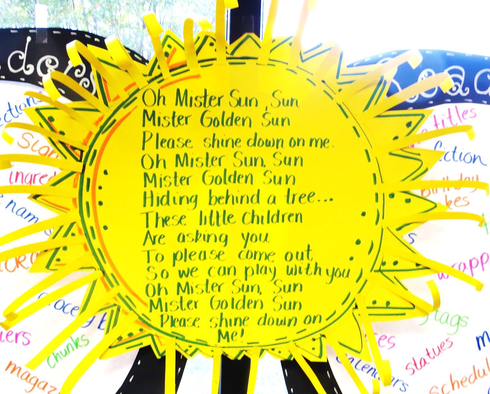 Oh Sunny Day.First Grade Wow Sunny Sunny Day Objects In The Sky K 2