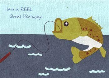 Have A Reel Great Birthday Fish Birthday Card Fishing Birthday Cards Fishing Cards Fishing Birthday
