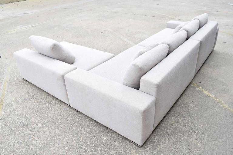 Minotti Moore Three Piece Sectional Sofa By Rodolfo Dordoni 3
