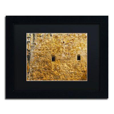 "Trademark Art ""Castillo San Felipe del Morro 17"" by CATeyes Framed Photographic Print Size: 11"" H x 14"" W x 0.5"" D"