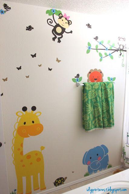 Kids Jungle Bathroom Wall Decals From Walls Tale So Fun