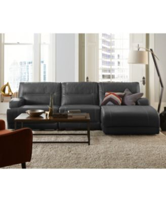 caruso leather 5 piece power motion sectional sofa chiara rose shield living room ...