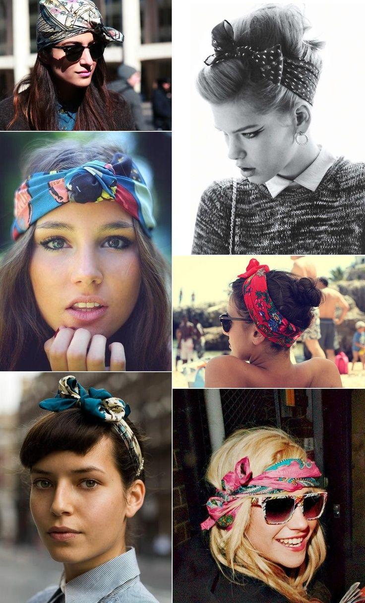 5 super cute ways to wear bandanas | hair | scarf hairstyles