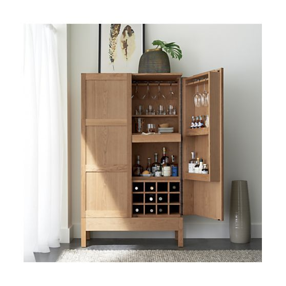 Crate And Barrel Wine Bar Cabinet