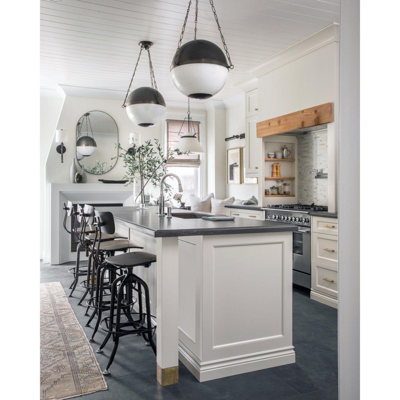 Sphere No 2 Pendantpolished Nickel In 2021 Kitchen Renovation Modern Farmhouse Kitchens Home