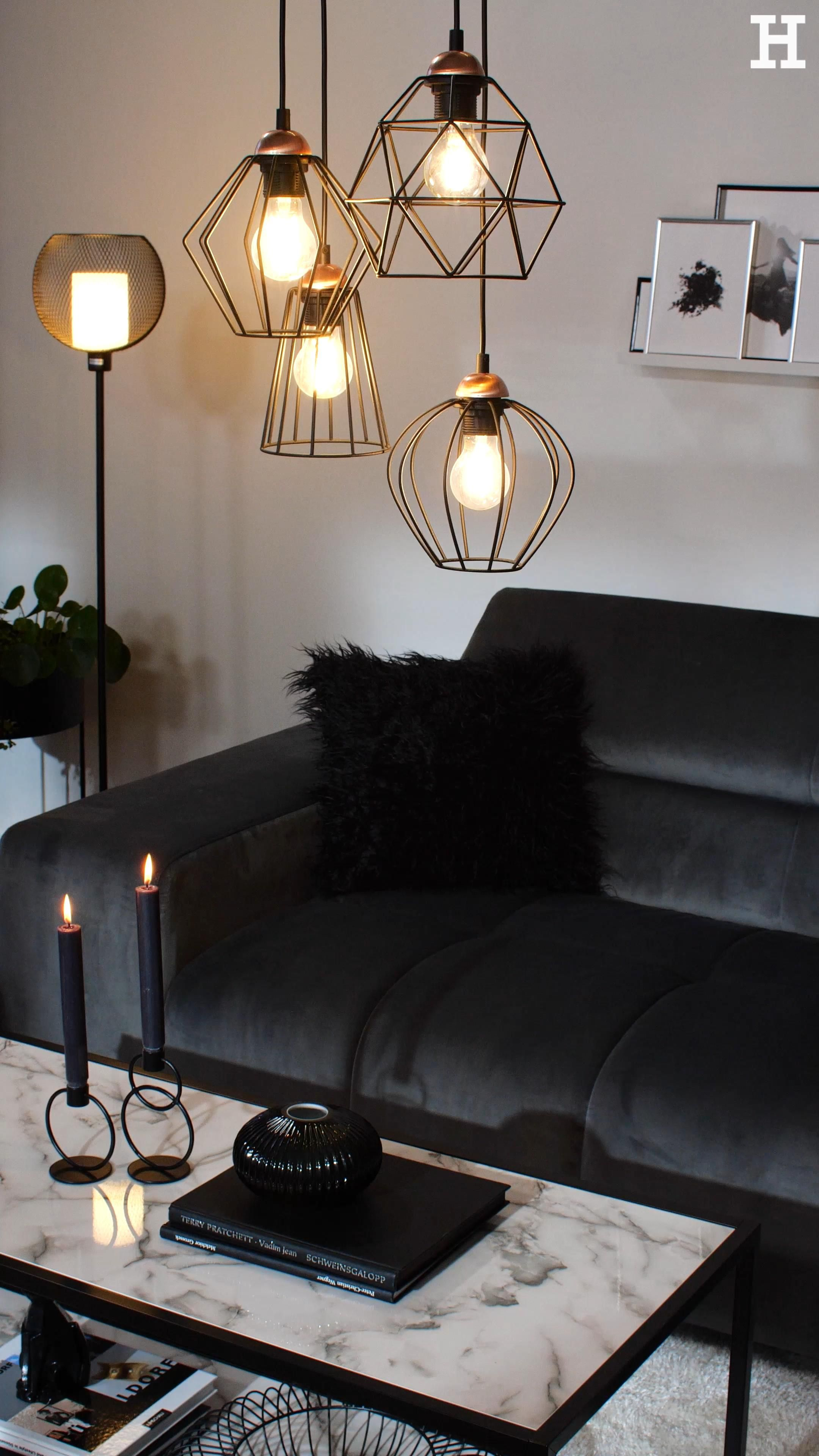 Photo of Dekoriere dein Wohnzimmer in edlen Schwarz und Grautönen