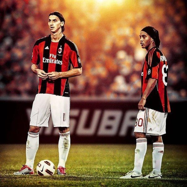 Days When Zlatan Ronaldinho Played Together For Ac Milan