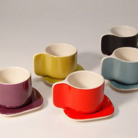 Designer Coffee Cup and Saucer by Sentou Ti cups   Coffee