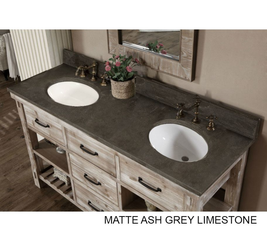 Bath Vanity Tops Double Sink Charming Top 60 Inch Accos Rustic
