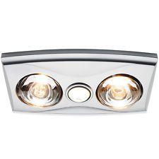 Bathroom Heat Lamp silver heller ceiling light/heater globe/ducted exhaust fan