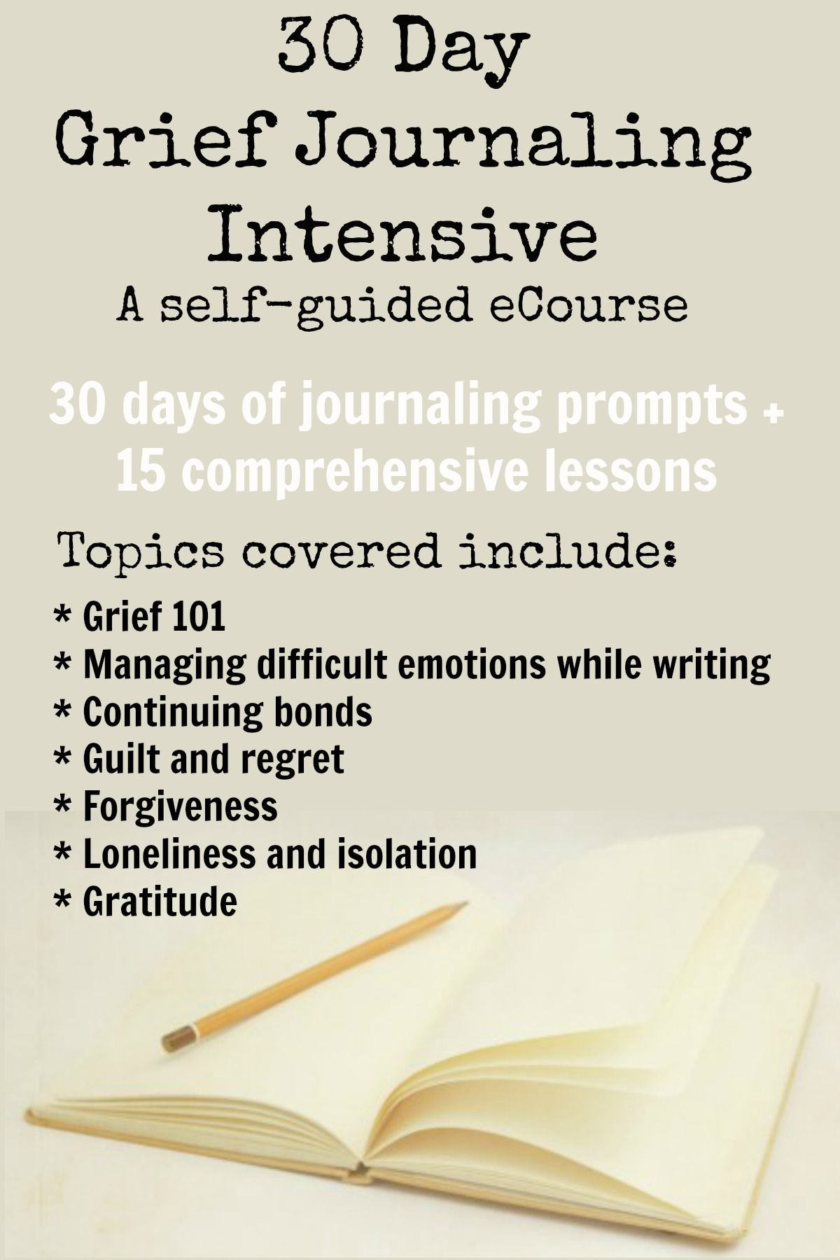 Participants Of This Ecourse Should Come Ready To Journal Yes But They Should Also Be Prepared To Learn Explore And Re Grief Journal Grief Counseling Grief