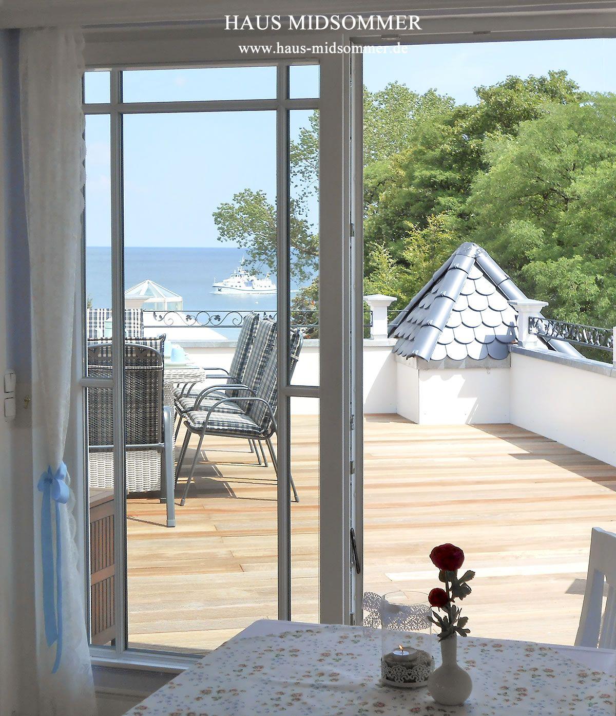 Blick aus der Ferienwohnung zur See. Ostsee urlaub