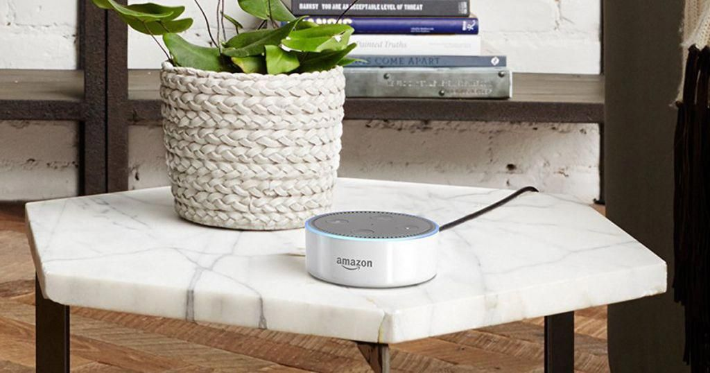 Echo dot is a voicecontrolled speaker that uses alexa to