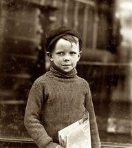 1910 - St Louis, Missouri. Boy named Gurley. Boy newspaper seller.