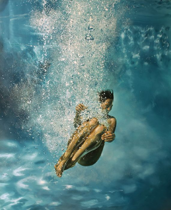 Eric Zener Water  -  Cocoon.. i wish i could do this with oil