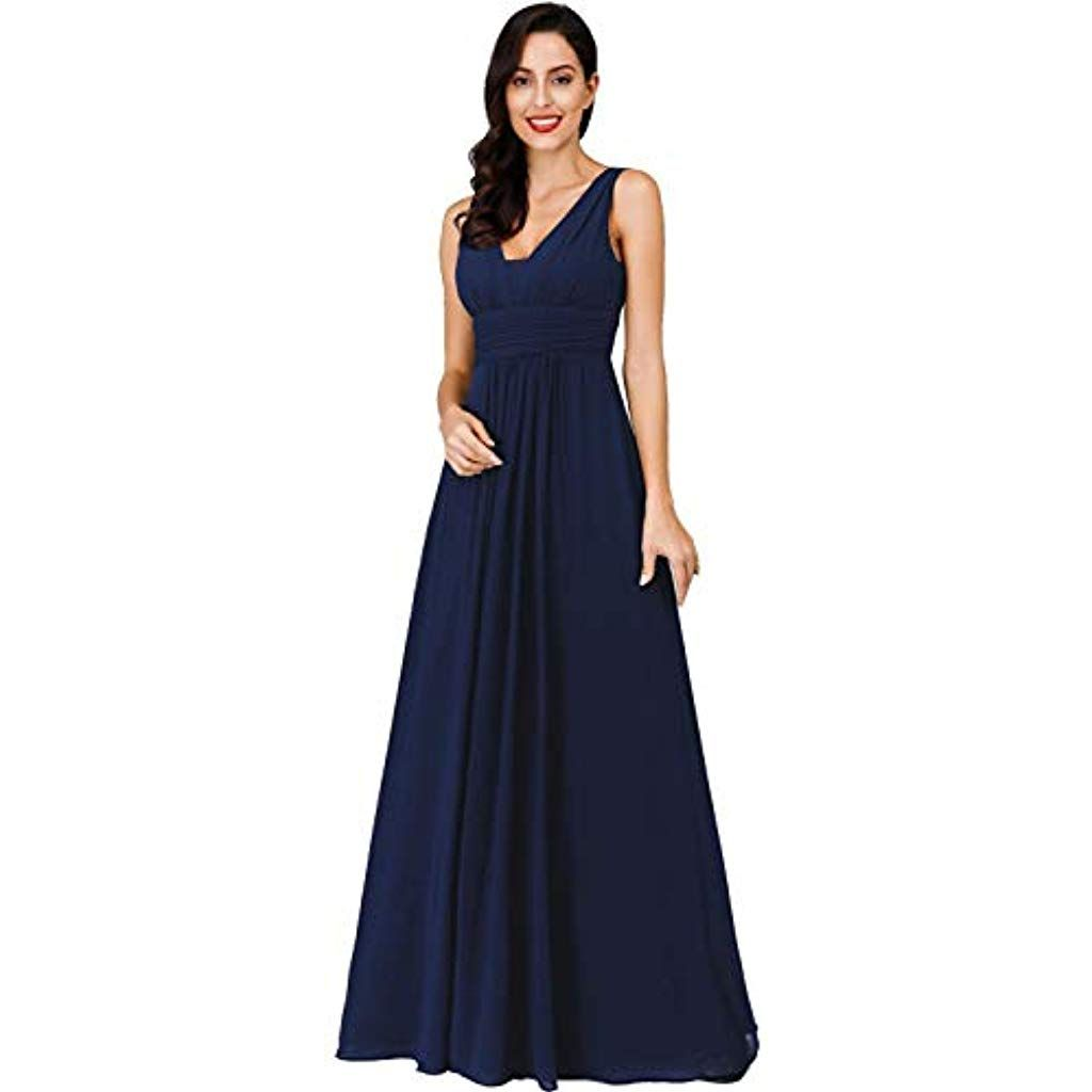 Photo of Ever-Pretty Women's V-Neck Long Evening Dress Chiffon Imp …
