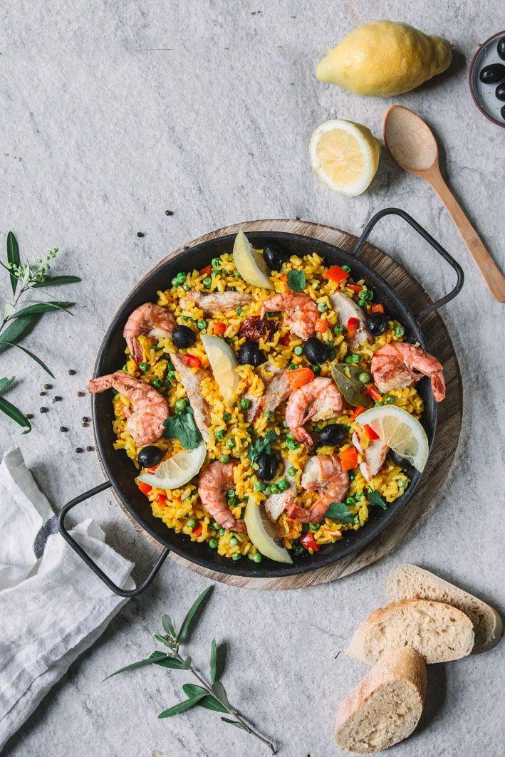 paella mit hühnchen und garnelen rezept rezepte