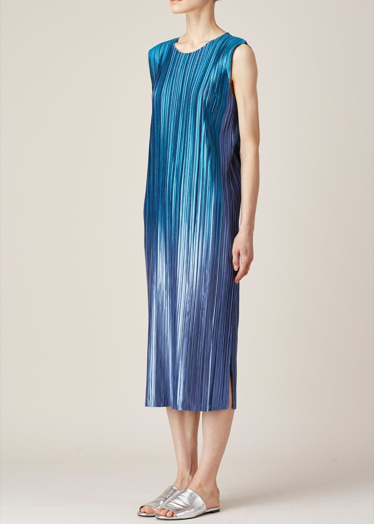 8c448f86b4a51 Totokaelo - Issey Miyake PLEATS PLEASE Blue Ombre Tank Dress ...