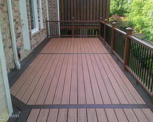 Two tone deck google search deck pinterest decking for Composite decking colors