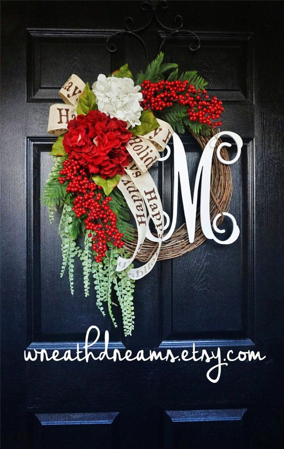 Hey, I found this really awesome Etsy listing at https://www.etsy.com/listing/250597303/lux-christmas-hydrangea-pine-grapevine